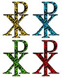 CHI RHO christian symbol in grunge style Royalty Free Stock Image