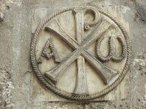 Chi-Rho ou sigla les lettres X et P représentant les premières lettres du titre Christos image libre de droits