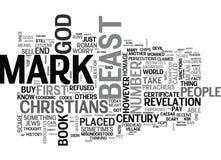 Chi riceverà la nuvola di Mark Of The Beast Word Immagine Stock Libera da Diritti