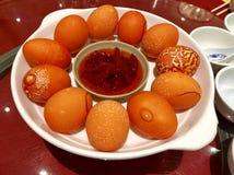 Chińscy czerwoni jajka obrazy stock