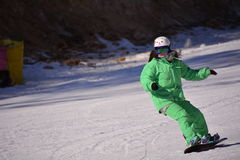 Chińscy narta sporty Obrazy Royalty Free