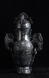 Chińska antyczna chabeta cyzelowania sztuka Obrazy Royalty Free