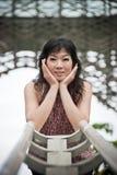 Chińska Biurowa dama przy plenerowym, PutraJaya, Malezja Fotografia Royalty Free