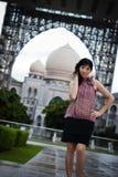 Chińska Biurowa dama przy plenerowym, PutraJaya, Malezja Obraz Royalty Free