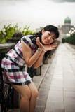 Chińska Biurowa dama przy plenerowym, PutraJaya, Malezja Zdjęcie Royalty Free