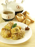 Chińska herbata i deser Obrazy Stock