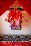Chińska jedwab suknia Zdjęcia Royalty Free