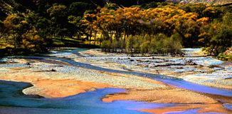 Chińska jesieni sceneria Qilian góry Zdjęcie Stock