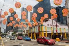 Chińska nowy rok dekoracja Singapur Zdjęcia Stock