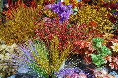 Chińska nowy rok dekoracja: sztuczni kwiaty Fotografia Royalty Free