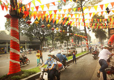 Chińska nowy rok dekoracja w Ho Chi Minh Fotografia Royalty Free