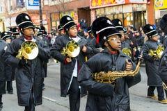 Chińska nowy rok parada: Orkiestra marsszowa Zdjęcia Royalty Free