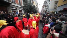 Chińska nowy rok parada w Mediolan 2014 zbiory