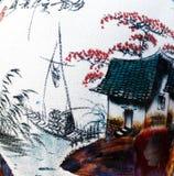 chińska porcelanowa waza Zdjęcia Royalty Free