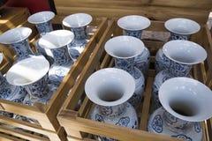 chińska porcelanowa waza Fotografia Stock