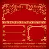 Chińska rocznik rama Fotografia Stock