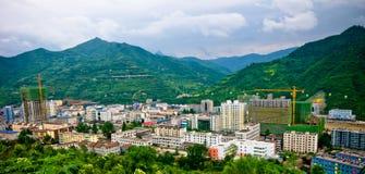 Chińska wioska w dolinie Zdjęcia Stock