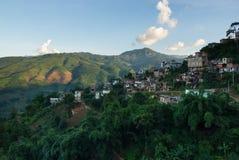 Chińska wioska w górach Zdjęcia Royalty Free