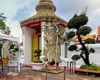 Chińska wojownik statua W Wacie Pho, Bangkok, Tajlandia Obrazy Royalty Free