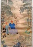 Chiński antyczny obraz Zdjęcie Royalty Free