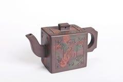 Chiński brown koloru earthenware teapot Zdjęcie Royalty Free