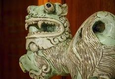 Chiński ceramiczny lew Fotografia Royalty Free