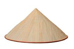 Chiński conical odosobniony kapelusz Obrazy Royalty Free