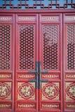 Chiński czerwony drzwi Zdjęcie Royalty Free