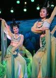 chiński dancingowy tradycyjny Obrazy Royalty Free