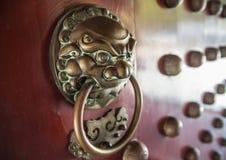 Chiński drzwiowy knocker Fotografia Stock