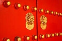 chiński drzwiowy tradycyjny Zdjęcia Royalty Free