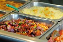 Chiński fasta food bufeta jedzenie w restauraci Obrazy Stock