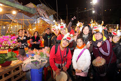 chiński Hong kong rynku nowy rok Obraz Royalty Free