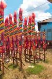 Chiński joss kij plenerowy zdjęcie royalty free
