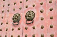 Chiński klasyczny Stary drewniany drzwi Fotografia Royalty Free