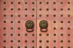 Chiński klasyczny Stary drewniany drzwi Fotografia Stock