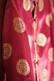 chiński kurtki czerwieni jedwab Fotografia Royalty Free