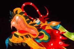 Chiński lampion, smok Obrazy Royalty Free