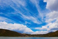 Chiński niebo w Pudacuo parku narodowym obraz royalty free