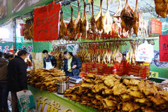 Chiński nowego roku zakupy festiwal w Sichuan Obraz Royalty Free