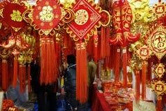 Chiński nowego roku zakupy festiwal w Sichuan Zdjęcia Stock