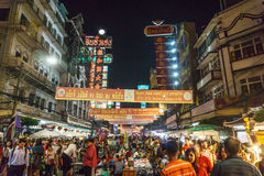 Chiński nowy rok 2016 w Chinatown, Bangkok, Tajlandia Obrazy Stock