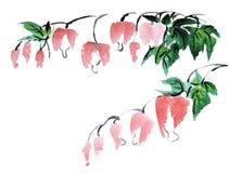 Chiński obraz kwiaty Fotografia Stock