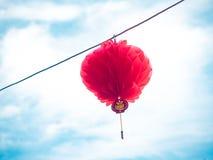 Chiński papierowy lampion Fotografia Royalty Free