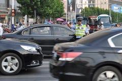 Chiński paramilitarny policjant Obrazy Royalty Free