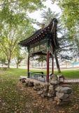 Chiński pawilon w miasto parku zdjęcie royalty free