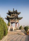 Chiński pawilon w miasto parku obraz stock