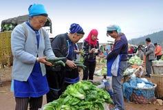 chiński rolników towarów rynku bubel ich Obrazy Stock