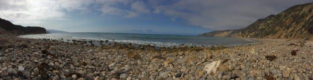 Chiński schronienie Santa Cruz wyspy panorama Fotografia Stock