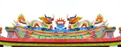 chiński smoka statuy styl Obraz Stock